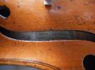 Violon portant étiquette de ROZE
